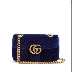 Gucci Women's Blue GG Marmont Bag- Medium